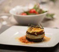 Doradenmoussaka mit Gemüse-Couscous